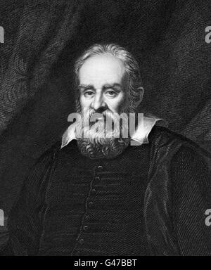 Galilieo. Portrait of Galileo Galilei (1564-1642), the Italian astronomer, physicist, engineer, philosopher, and - Stock Photo