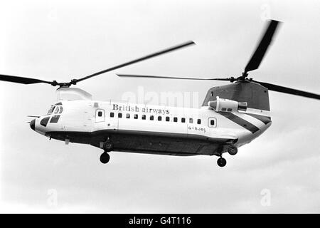 Aviation - British Airways Commercial Helicopter - Gatwick Airport, London - Stock Photo