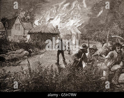 the depiction of the english agricultural wage laborers uprising of 1830 in captain swing During southern england's great agricultural labor rising, the swing west line through the english countryside — a wages 1830, 1830s, 1831.