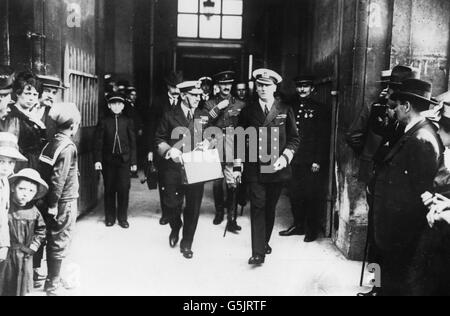 World War One - Royal Navy - Jellicoe - Stock Photo