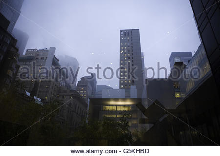 Museum of Modern Art in New York on a rainy day - Stock Photo