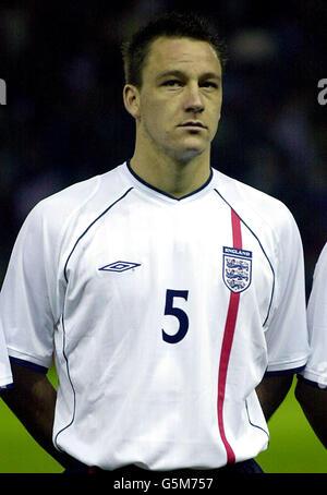 FOOTBALL ENGLAND U21 JOHN TERRY - Stock Photo