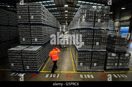 Molson Coors distribution centre - Stock Photo