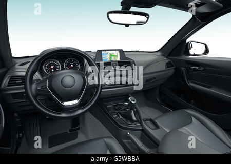 interior view of a car dashboard and driver on the road stock photo royalty free image. Black Bedroom Furniture Sets. Home Design Ideas