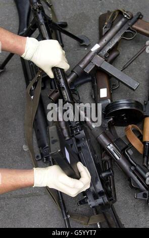 Russian assault rifles and machine guns - Stock Photo