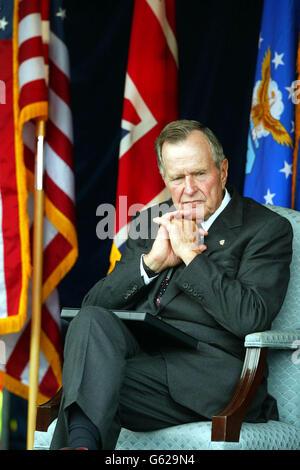 George Bush in Duxford - Stock Photo