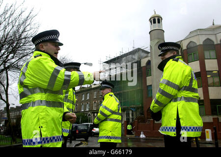 Terrorism Raid in Finsbury Park - Stock Photo