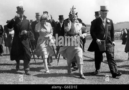 Royalty - Princess Elizabeth - Epsom Races - Stock Photo