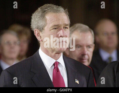George Bush at Westminster Abbey - Stock Photo