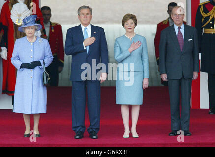 Queen with George Bush - Stock Photo