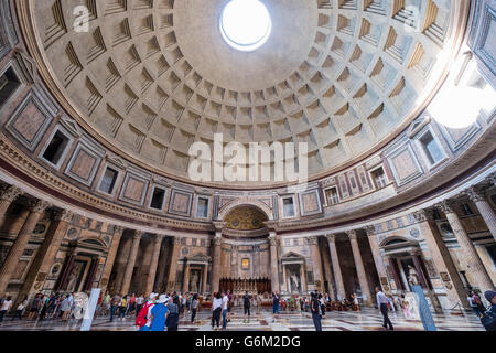 Interior of the Pantheon,  on Piazza della Rotonda,  Rome, Italy - Stock Photo