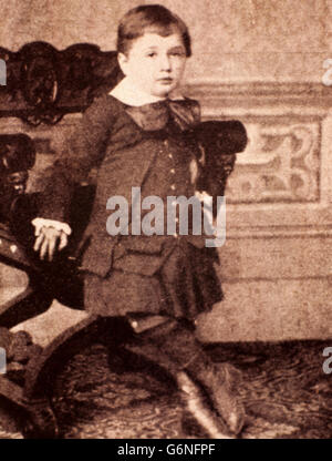 Child Albert Einstein (Ulm, March 14, 1879 - Princeton, April 18, 1955) was a German physicist and philosopher naturalized - Stock Photo
