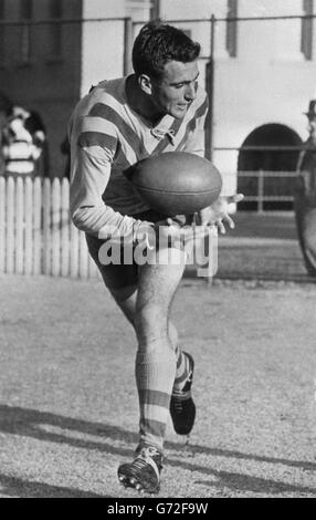Rugby League - Australian Attacking Centre - Reg Gasnier - Stock Photo
