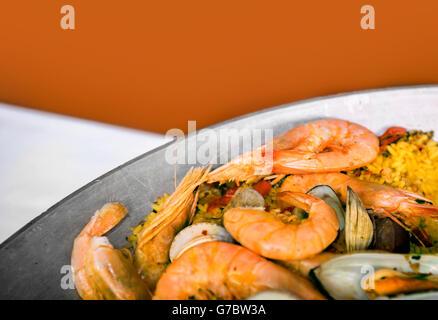 Spanish style rice - Stock Photo