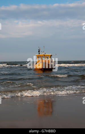 Fishing boat, Ahlbeck, Usedom Island, Baltic Sea, Mecklenburg-Western Pomerania, PublicGround - Stock Photo