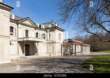 View on the Villa La Grange in the park La Grange in Geneva, Switzerland, on a sunny day in spring - Stock Photo