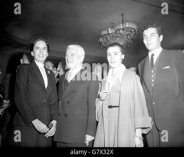 Entertainment - Charlie Chaplin in London - Savoy Hotel, London - Stock Photo