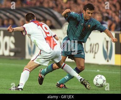 Soccer ... UEFA Cup Winners Cup Final ... Barcelona v Paris St.Germain - Stock Photo
