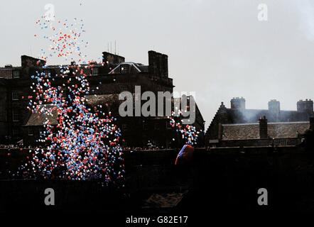 60TH ANNIVERSARY OF THE END OF WWII - Edinburgh - Stock Photo