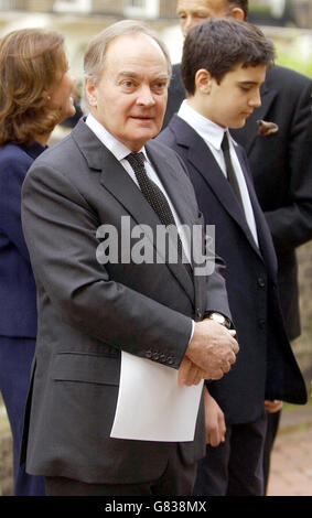 Lord Hanson memorial service - St Paul's Church - Knightsbridge - Stock Photo