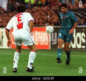 Soccer ... UEFA Cup Winners Cup Final ... Barcelona v Paris St Germain - Stock Photo