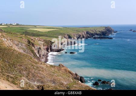 Coastal scenery, Lizard Point headland, Lizard peninsula, Cornwall, England, UK - Stock Photo