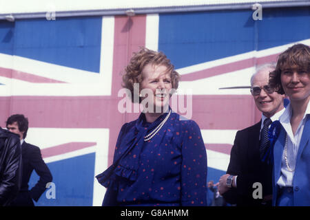 Politics - General Election 1983 - Margaret Thatcher - Isle of Wight - Stock Photo