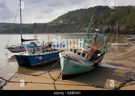 Boats in newquay west wales uk stock photo royalty free for Head boat fishing near me