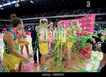 England v Australia - International Netball Series - Third Match - Copper Box - Stock Photo