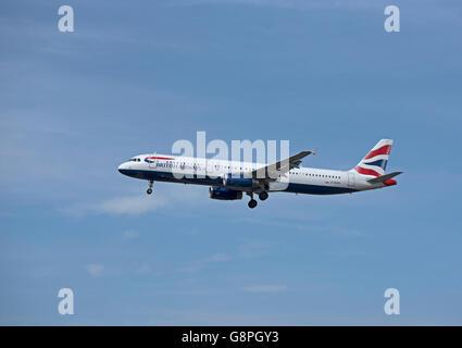 British Airways Airbus 321-231 Registration G-EUXK  SCO10,473. - Stock Photo