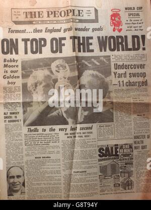 World Cup Soccer - The People - July 31st 1966 - Stock Photo