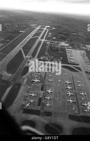 Gatwick Airport - London - 1987 - Stock Photo