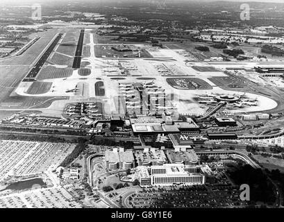 Gatwick Airport - London - 1986 - Stock Photo