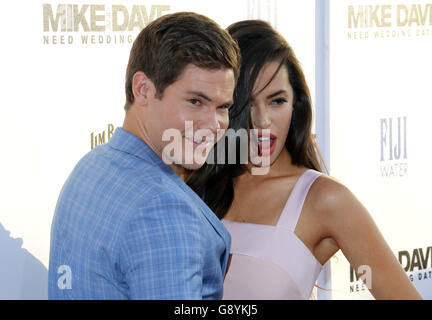 Los Angeles, California, USA. 29th June, 2016. Adam DeVine and Chloe Bridges at the Los Angeles premiere of 'Mike - Stock Photo