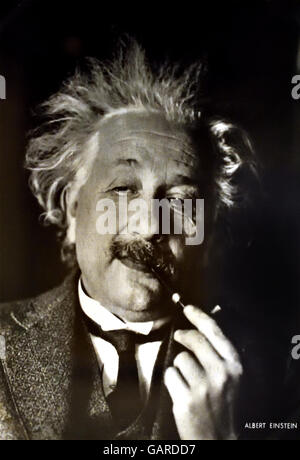 Professor ALBERT EINSTEIN (1879-1955). American (German-born) theoretical physicist. 1937 In exile at his home 112 - Stock Photo