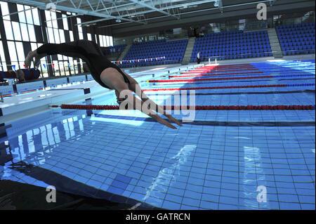 Cardiff international swimming pool sports village cardiff bay stock photo 67767432 alamy for International swimming pool cardiff