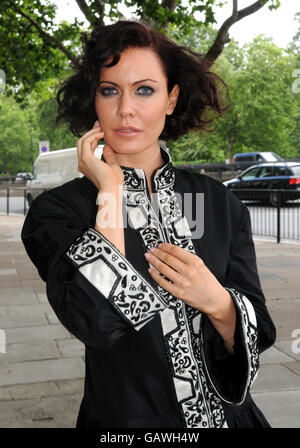 Linzi Stoppard Models The Most Expensive Abaya - London - Stock Photo