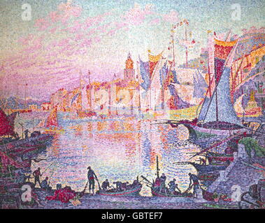 fine arts, Signac, Paul (1863 - 1935), painting, 'The Port of Saint Tropez', oil on canvas, 131 x 161.5 cm, circa - Stockfoto