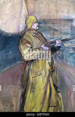 fine arts, Toulouse-Lautrec, Henri de (1864 - 1901), painting 'M. Maurice Joyant', Museum Albi, - Stock Photo