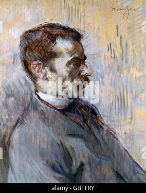 fine arts, Toulouse-Lautrec, Henri de (1864 - 1901), painting, 'Mon Gardien' (My Caretaker), 1899, Museum Albi, - Stock Photo