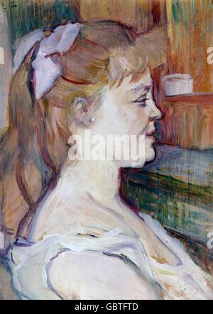 fine arts, Toulouse-Lautrec, Henri de (1864 - 1901), painting 'Femme de Maison', circa 1892, Museum Albi, - Stock Photo