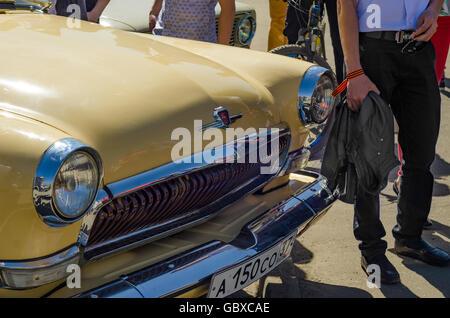 soviet volga gaz 21 vintage blue car interior stock photo royalty free image 57328827 alamy. Black Bedroom Furniture Sets. Home Design Ideas