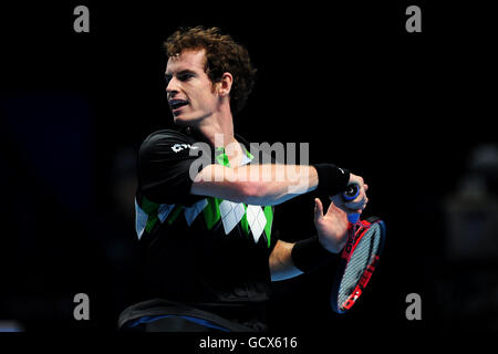 Tennis - Barclays ATP World Tennis Tour Finals - Day One - O2 Arena - Stock Photo