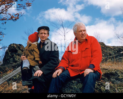 Alexander Calder and the painter Jack Youngerman - Stock Photo