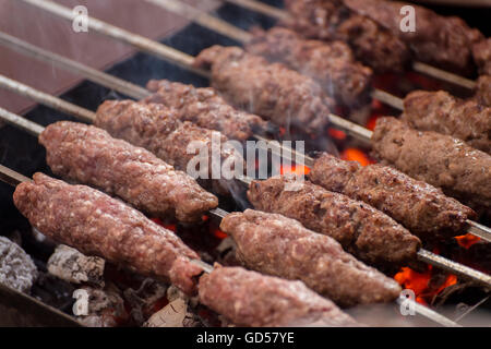 food kofta grilled minced meat with the typical bread syria stock photo royalty free image. Black Bedroom Furniture Sets. Home Design Ideas