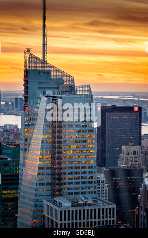 bank of america tower one bryant park leed green building second stock photo royalty free. Black Bedroom Furniture Sets. Home Design Ideas