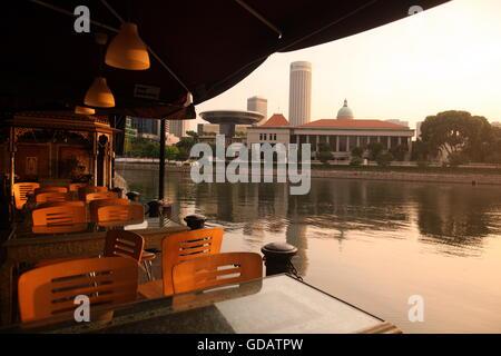 Asien, Suedost, Singapur, Insel, Staat, Stadt, City, Skyline, Zentrum, Boat Quay, Bankenviertel,  Restaurant, - Stock Photo