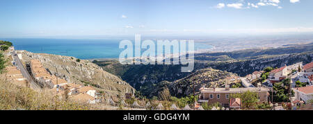 monte sant angelo gargano puglia italy adriatic sea - Stock Photo