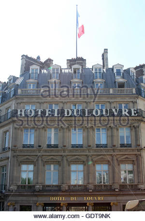 Hotel du Louvre, a Hyatt hotel, Paris, France. - Stock Photo