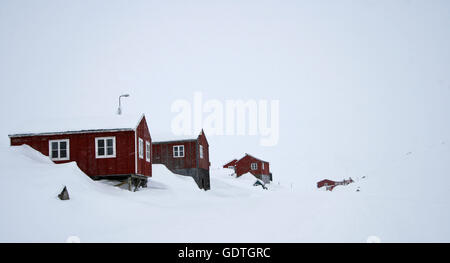 Villlage of Kulusuk. Greenland. - Stock Photo